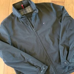 Tommy Hilfiger Lined Black Jacket w/Hood EUC